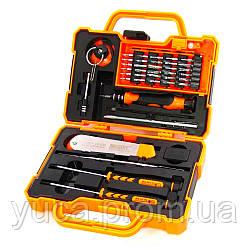 Набор инструментов JAKEMY JM-8139 (ручка, 35 бит, удлинитель, пинцет, нож, 2х-стор. мет. лопатка, отвёртки +1.2, пенталоб 0.8)