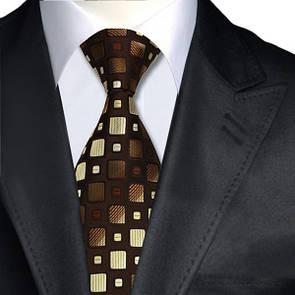 JASON&VOGUE Галстук с оттенками коричневого цвета в кубик