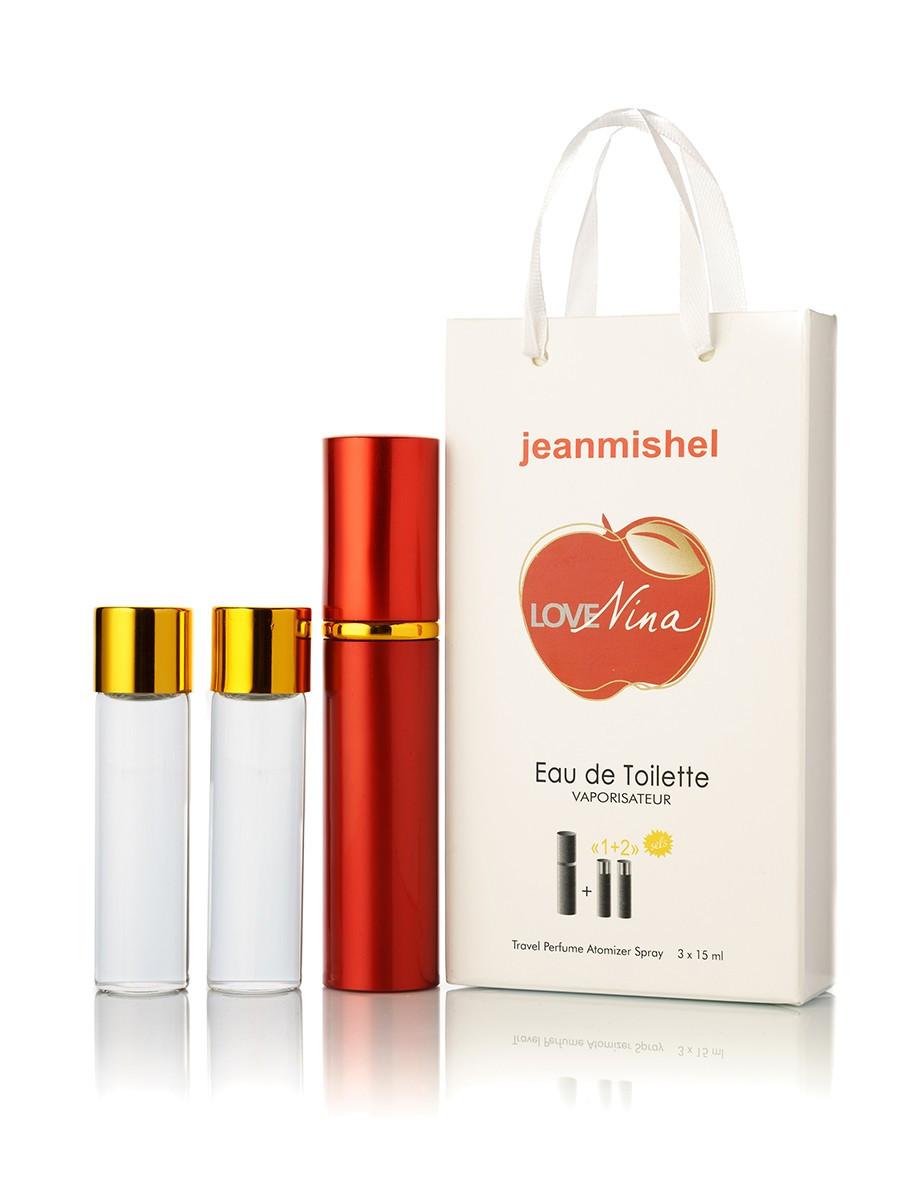 3 по 15 мл Мини-парфюм Jeanmishel Love Nina Red (ж) 62