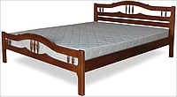 Кровать двоспальная с натурального дерева в спальню ТИС ЮЛІЯ 1 160*190 сосна