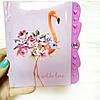 Блокнот детский на замочке Фламинго