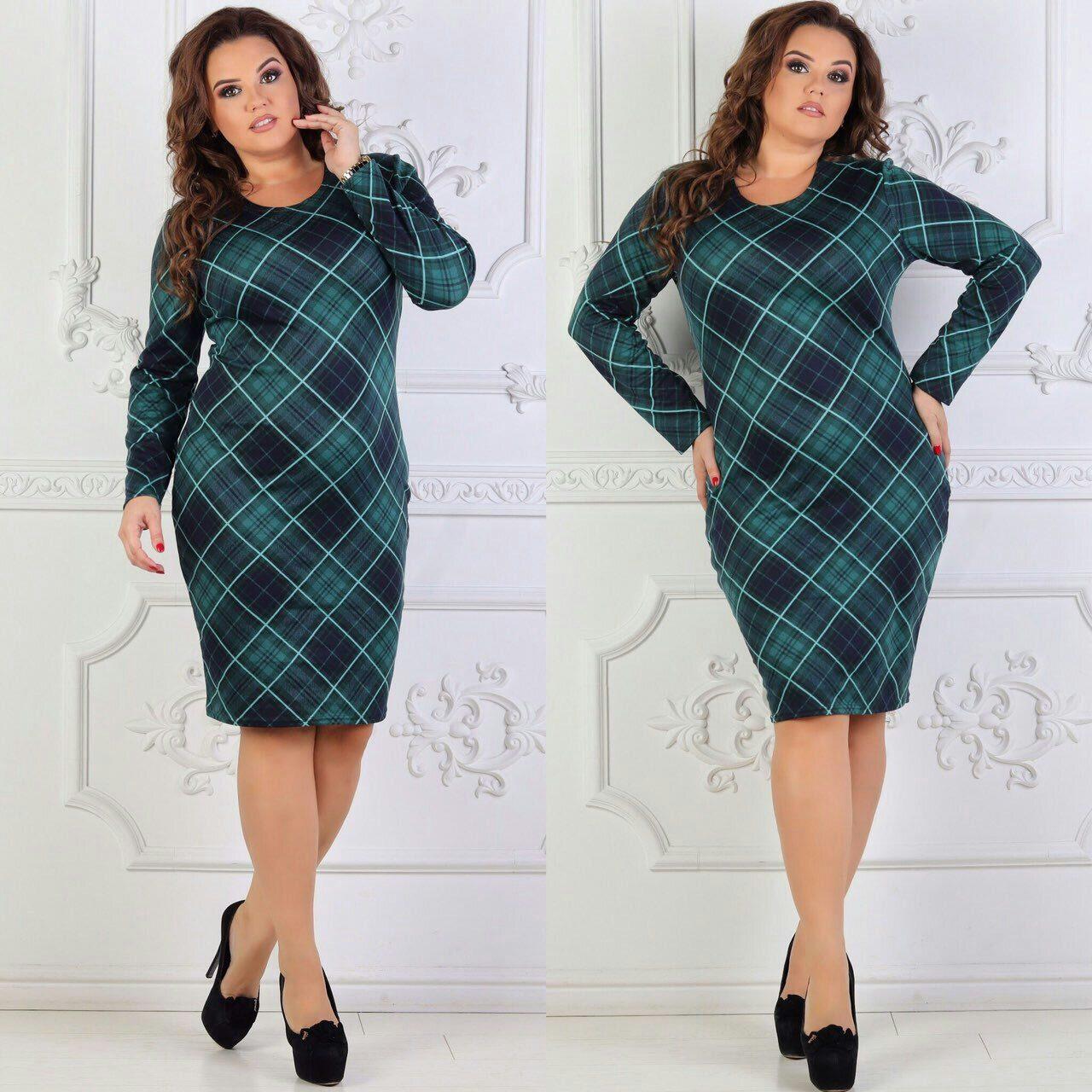 """Красивое женское платье """"Французский трикотаж с добавление Ангоры"""" 50, 52, 54, 56 размеры баталы"""