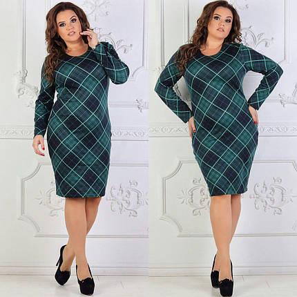 """Красивое женское платье """"Французский трикотаж с добавление Ангоры"""" 50, 52, 54, 56 размеры баталы, фото 2"""