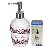 Диспенсер для мыла 5.5х17 см Цветочный вальс SNT 888-04-005
