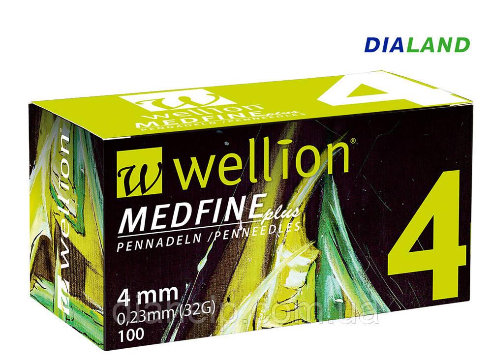 Иглы Веллион Wellion MEDFINE plus для шприц-ручек 0,23мм (32G)*4мм
