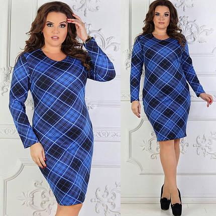 """Красивое женское платье """"Французский трикотаж с добавление Ангоры"""" є 50, 52, 54, 56 размеры баталы, фото 2"""