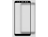 3D Full Glue защитное стекло для Samsung A730 Galaxy A8+ 2018 Чёрное (клеится вся поверхность)