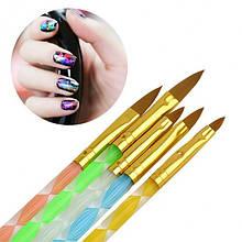 Набор кистей для дизайна и рисования ногтей 5 шт. №2