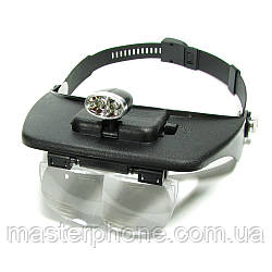 Бинокуляры  MG81001-A с LED-подсветкой (спаренные линзы 1.2х/1.8х/2.5х/3.5х)