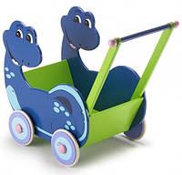 Bayer Chic - Деревянная колясочка Dino, цвет сине-зеленый