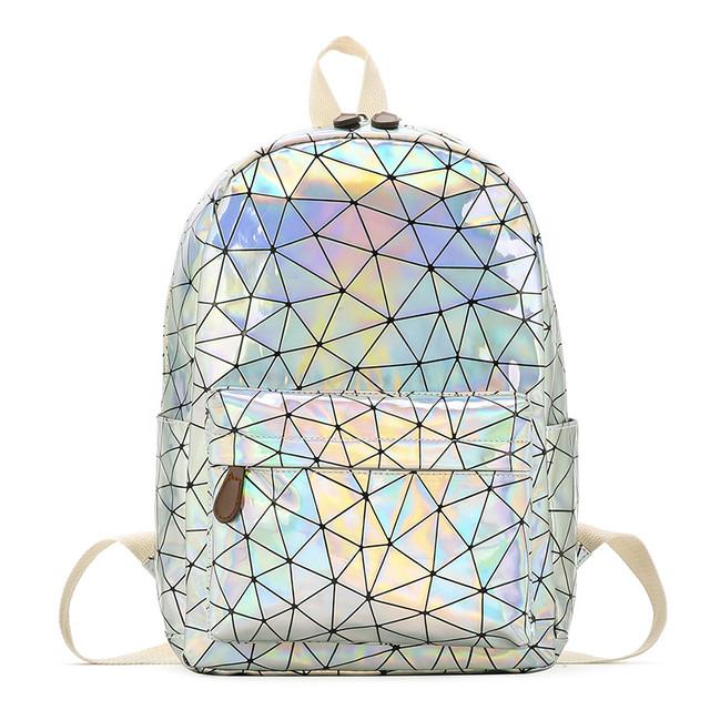 Голограммный рюкзак Геометрія срібло