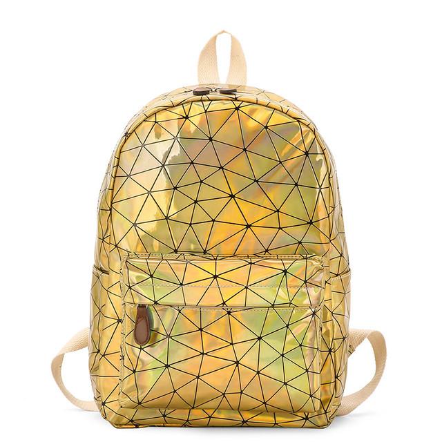 Голограммный рюкзак Геометрія золото