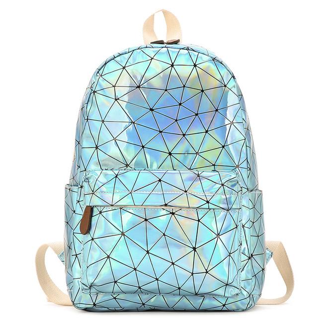 Голограммный рюкзак Геометрія блакитний