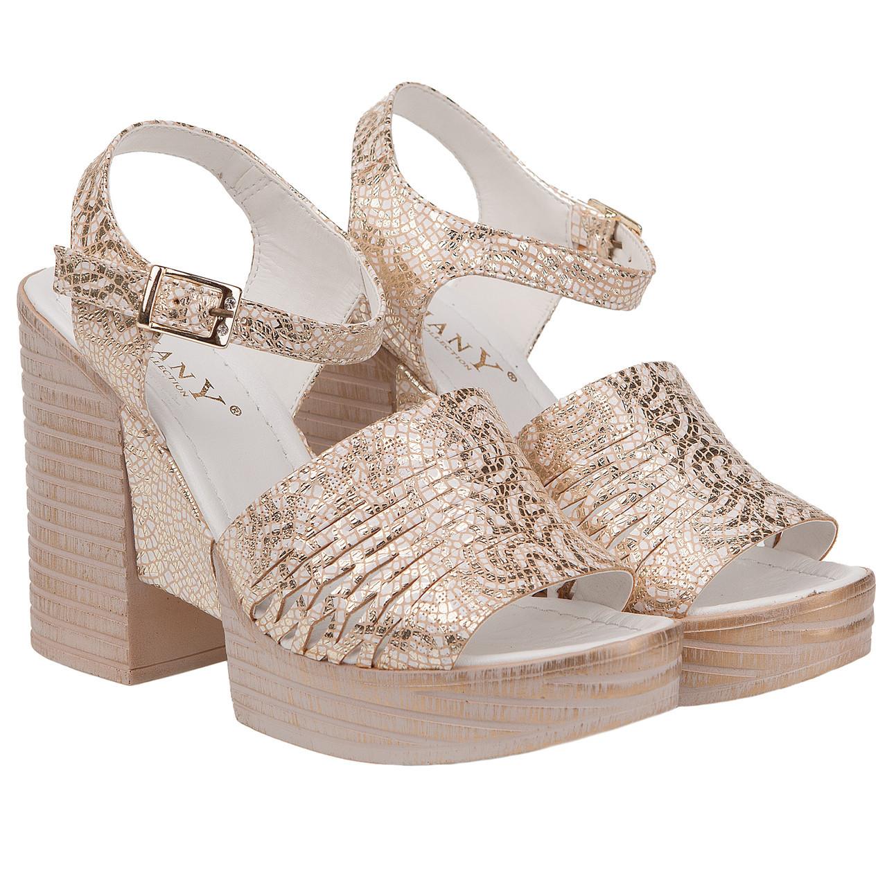 116910820 Босоножки женские Phany (золотистого цвета, оригинальные, модные, удобные,  комфортные) -