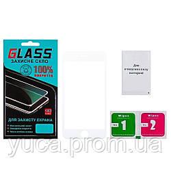 Защитное стекло для APPLE iPhone 6 (0.3 мм, 4D белое) Люкс