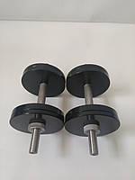 Гантели металлические 2 шт по 12 кг