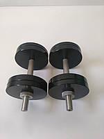 Гантели металлические 2 шт по 16 кг