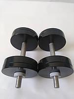 Гантели металлические 2 шт по 18 кг
