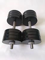 Гантели металлические 2 шт по 32 кг