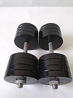 Гантели металлические 2 шт по 38 кг