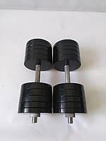 Гантели металлические 2 шт по 44 кг