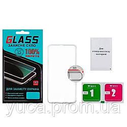 Защитное стекло для APPLE iPhone 6 (0.3 мм, 3D c серебристой алюминиевой рамкой)
