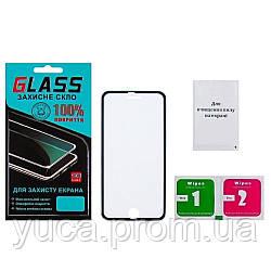 Защитное стекло для APPLE iPhone 6 (0.3 мм, 3D c чёрной алюминиевой рамкой)