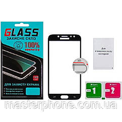 Защитное стекло для SAMSUNG A730 Galaxy A8 Plus (2018) (0.3 мм, 3D чёрное)