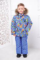 Зимний детский комплект на мальчика с натуральным мехом ТМ MANIFIK