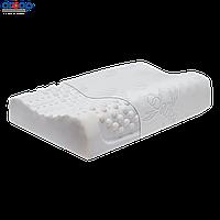 Подушка ортопедическая массажная (под голову детская из натурального латекса с 2 вал. 8/10 см)