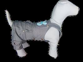 Джинсовый комбинезон для собак