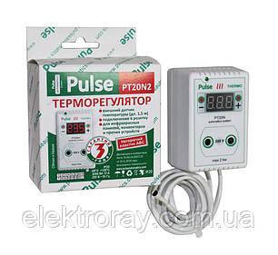 Терморегулятор РТ20-N2 розеточный цифровой Pulse, фото 2