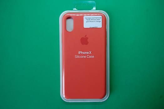 """Apple Silicone Case"" для iPhone X Orange"