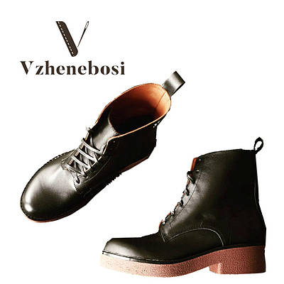 Кожанные ботинки весна-осень ручной работы