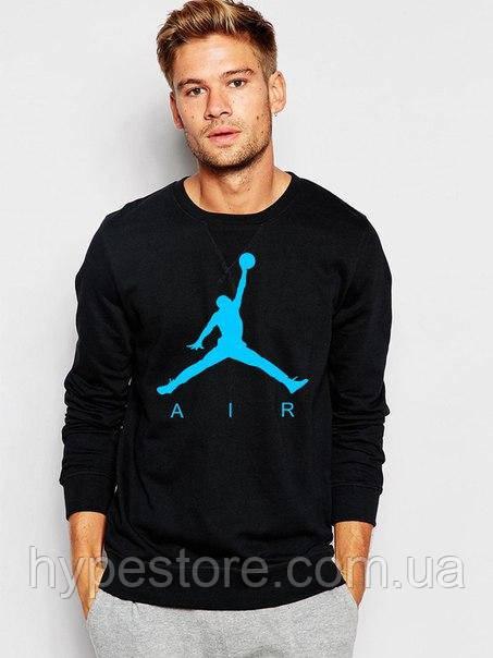 Мужской спортивный свитшот, кофта на флисе Jordan Air, Джордан, Реплика