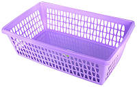"Корзина для хранения ""Велетта"" прямоугольная 25х14х7см фиолетовая С712 ФІЛ"