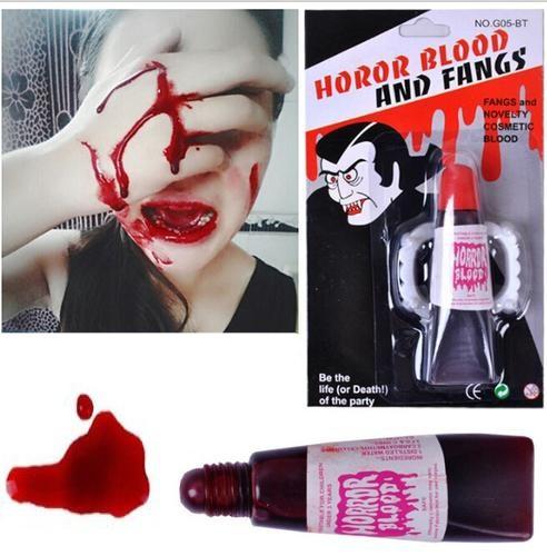 Грим тюбик Кровь с зубами