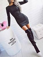 Женское платье мини длинный рукав, фото 1