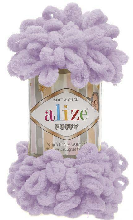 турецкая пряжа для вязания Alize Puffy пуффи пряжа вяжется руками