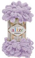 Турецкая пряжа для вязания  Alize Puffy (пуффи) пряжа вяжется  руками  27 лиловый