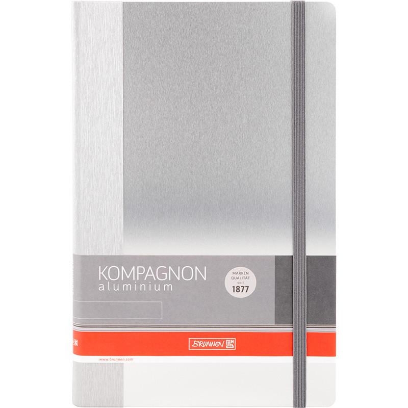 Книга записная Brunnen Компаньон Aluminium, А5, 96 лист 34189