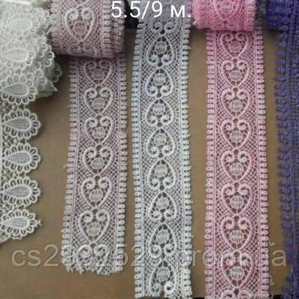 Кружева макраме 9 метров. Кружево макраме для пошива и декора одежды. Цвет сирени, фото 2