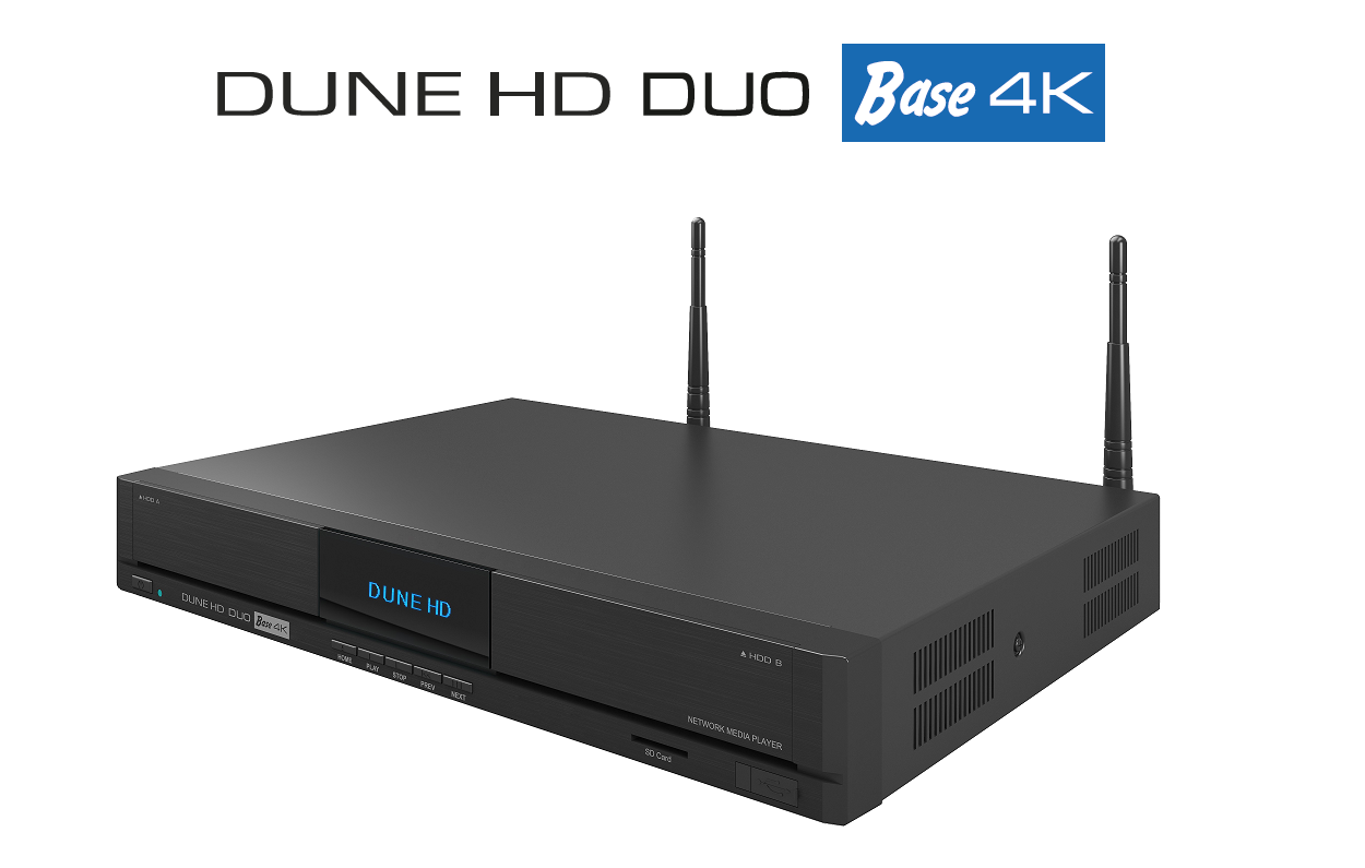 "Медиаплеер DUNE HD DUO BASE 4K Wi-Fi/T2/Ethernet ""Over-Stock"""