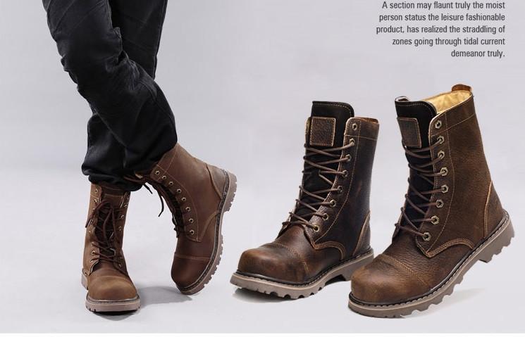 8e61f186 Мужские высокие кожаные сапоги ботинки Gucci Tianlun 2 цвета -  Интернет-магазин