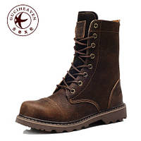 Мужские высокие кожаные сапоги ботинки , фото 1