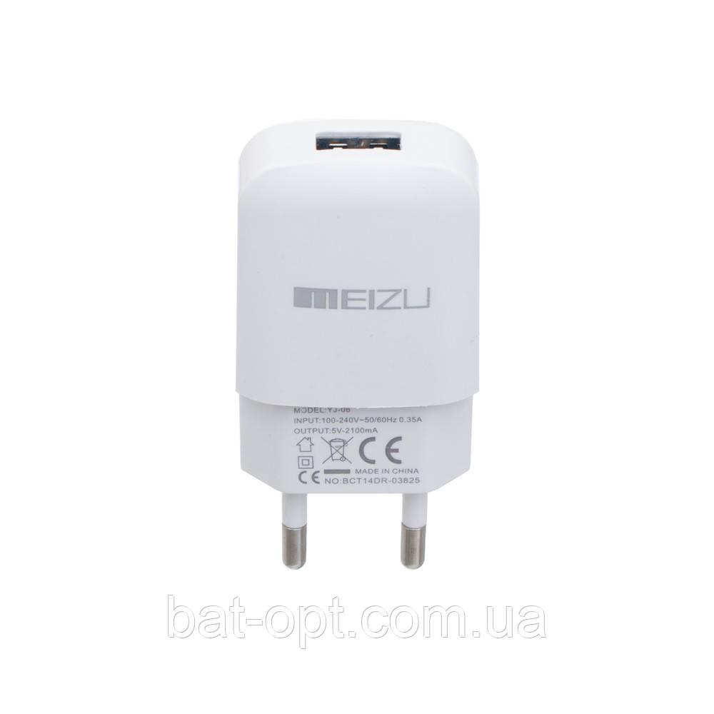 Сетевое зарядное устройство СЗУ 220В-USB Meizu YJ-06 2000mAh белое