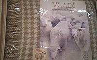 """Плед шерстяной с бахромой Vladi """"Tiffany"""" из нежной шерсти новозеландских овец"""