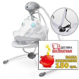 Колыбель-качель детская электрическая SG301-11-2 мубиль с игрушками, пульт