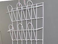 Полка стеллаж  для полиграфической продукции навесная корзиночная 2 ряда по 3 ячейки, фото 1