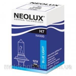 H7 Автолампа  (неолюкс) NEOLUX H7 12V 55W 4000K PX26D / BLUELIGHT - БЕЛО-ГОЛУБОЙ СВЕТ